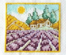 Lavender fields, cross stitich