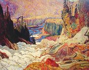 Falls - Montreal River  by James Edward Hervey MacDonald