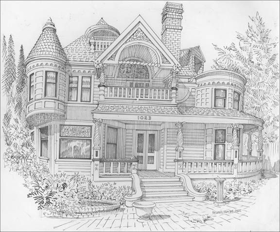 Victorian homes Coloring Pages for Adults how to draw - best of row house coloring pages