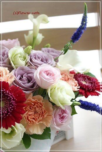 【今日の贈花】新築祝いのお花|Flower note の 花日記 (横浜・上大岡 アレンジメント教室)