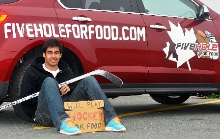 Richard Loat, SFU grad and founder of Five Hole for Food, has won a spot in a UK-based accelerator to launch his start up, Sport for Food.