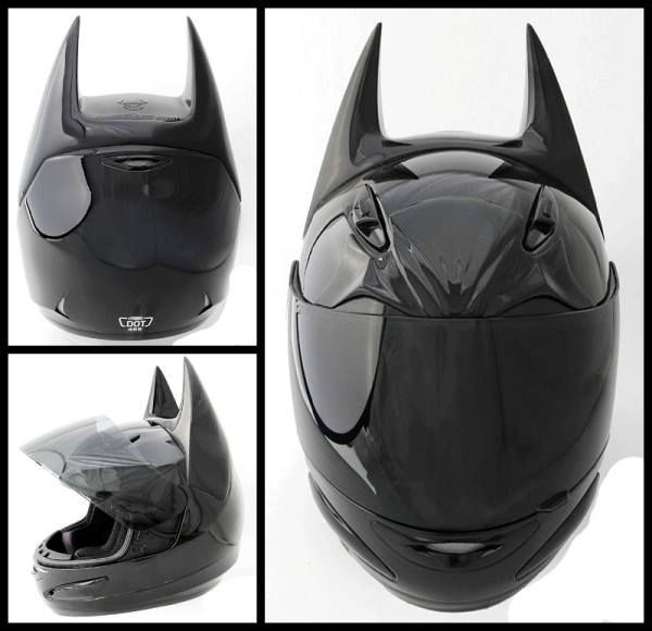 batman motorcycle helmet..WANT NOW....I'll get the motorcycle later.