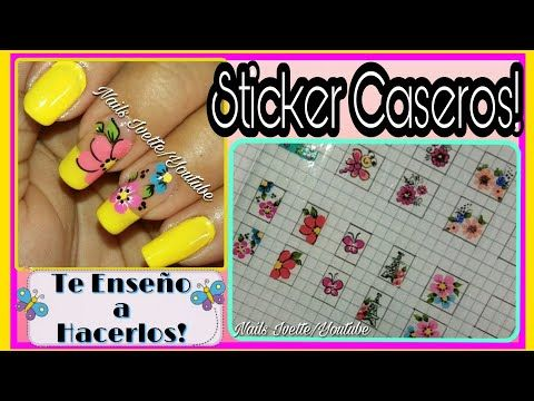 Sticker para uñas paso a paso - YouTube