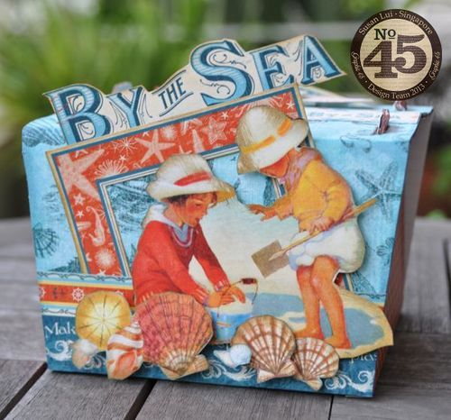We love this By the Sea treasure box from Susan Lui! Don't you love her fussy cut scene on the front? Just wonderful #graphic45