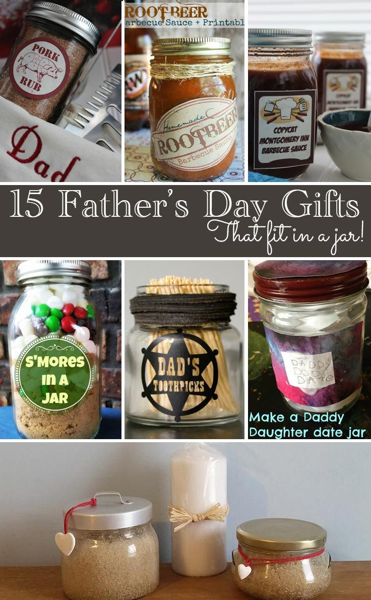 Crafts with Jars: Father's Day Gifts in a Jar-Posted by angie Get ready y'all it is almost Father's Day!  Try one of these Father's Day gifts in a jar this year for a gift that dad will never forget.  If you love jars like we do, these gift ideas will be the perfect solution for Father's Day.