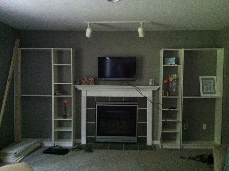 Faux Built In: Billy Bookcase Ikea Hack - 17 Best Ideas About Bookshelves Around Fireplace On Pinterest