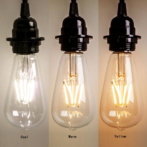 New-Vintage-Retro-Edison-E27-2W-8W-Screw-LED-Filament-Light-Bulb-ST64-Globe-Lamp