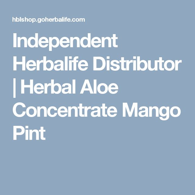 Independent Herbalife Distributor | Herbal Aloe Concentrate Mango Pint