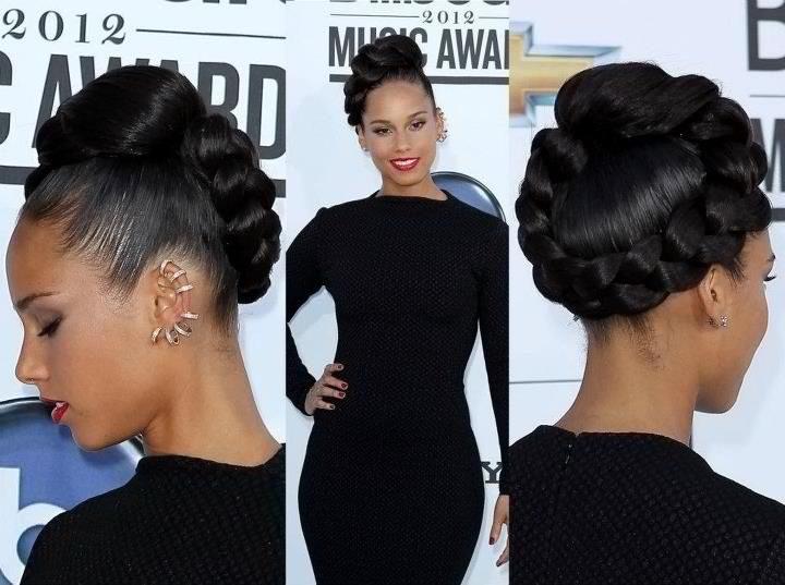 wrapped.: French Braids, Wedding Hair, Hairstyles, Braids Updo, Alicia Keys, Cute Hair, Hair Style, Natural Hair, Formal Hair
