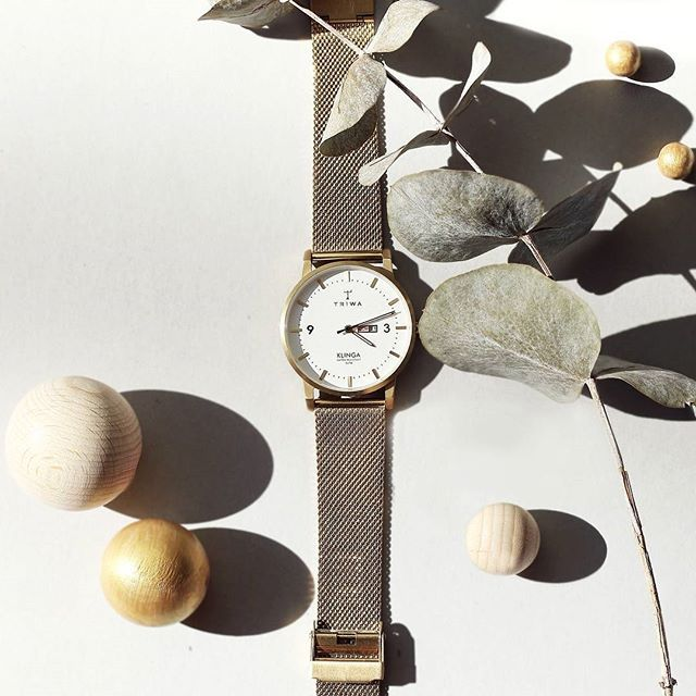 TRIWA CREATIVITY - Beauty Ivory Klinga Gold Mesh. Available at: https://www.triwa.com/sv-se/watches/family/current-collection/ivory-klinga-gold-mesh-gold/  #triwa #klinga #gold #watch