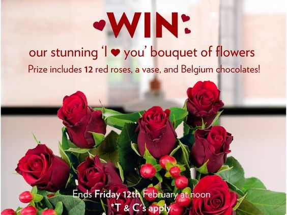 Win an 'I Love You' Bouquet of Flowers - Find Me A Gift Blog