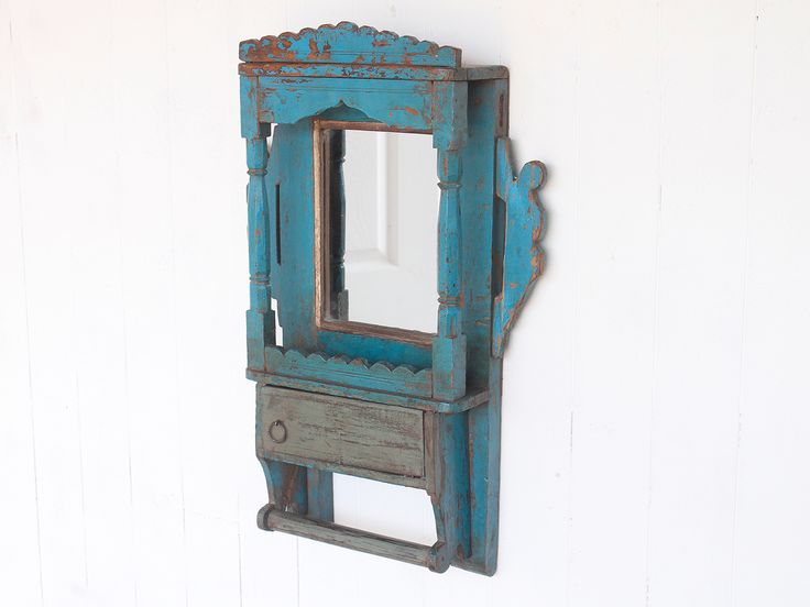 Wooden Mirror from Scaramanga's Vintage Furniture Collection