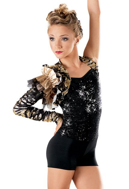 something tarzan/lion king? Sequin Metallic Shrug Biketard -Weissman Costumes