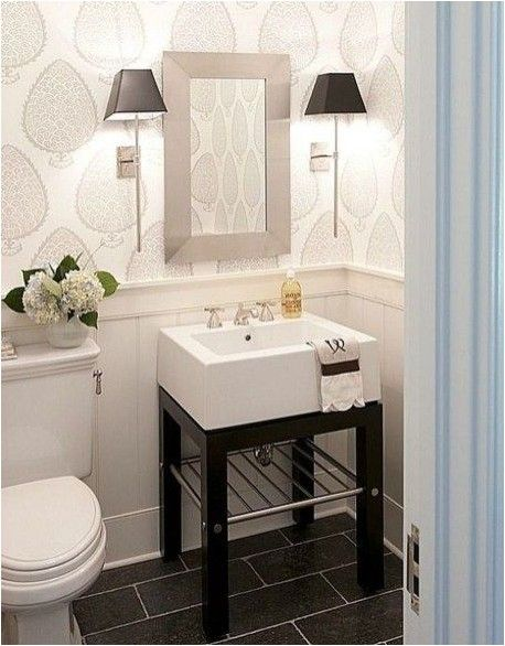 40 stunning powder room ideas to decorate your dream bathroom rh pinterest com