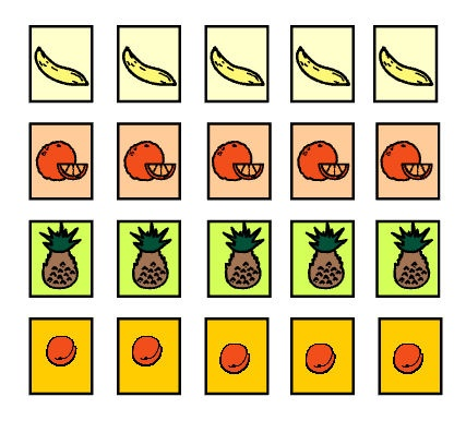 A game that links to the book 'Handa's Surprise'. Move around the game board collecting fruit. Some choices and hazards along the way. Practical Fruit collecting Graph boards included plus a supporting worksheet.