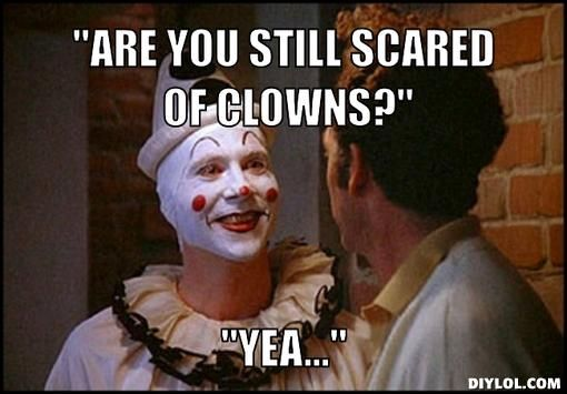 SCARY CLOWN MEMES image memes at relatably.com