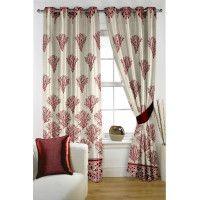Abstract Geometrical Maroon Curtain