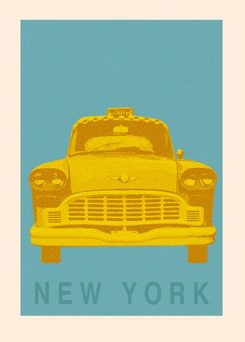 ~New York Cab~ Art Print
