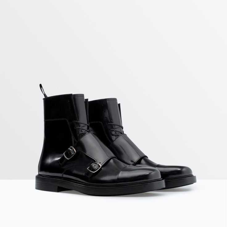 LEATHER BOOT WITH BUCKLES-Shoes-Man-SHOES & BAGS | ZARA United States