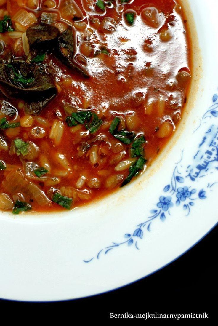 zupa, soczewica, szpinak, dietetycznie, montignac