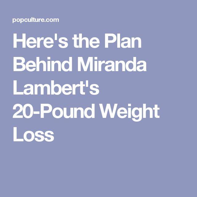 Here's the Plan Behind Miranda Lambert's 20-Pound Weight Loss