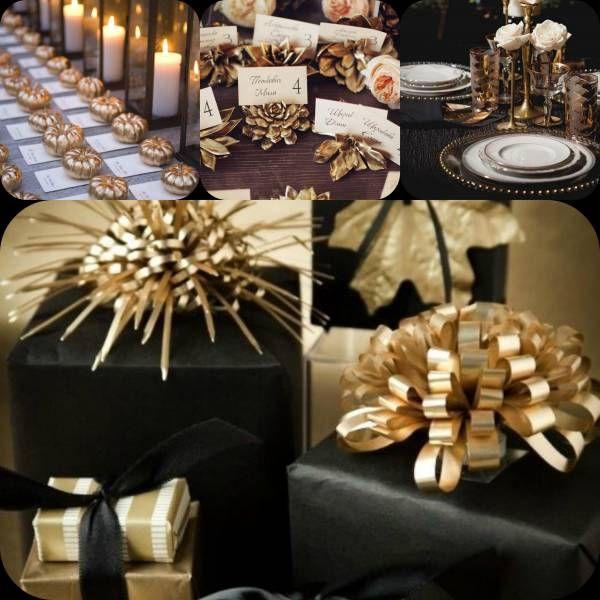 Nero e oro: colori perfetti per bomboniere e nozze autunnali