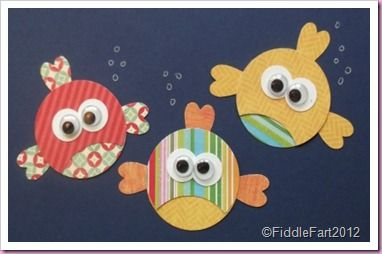 Card: fish - punch art