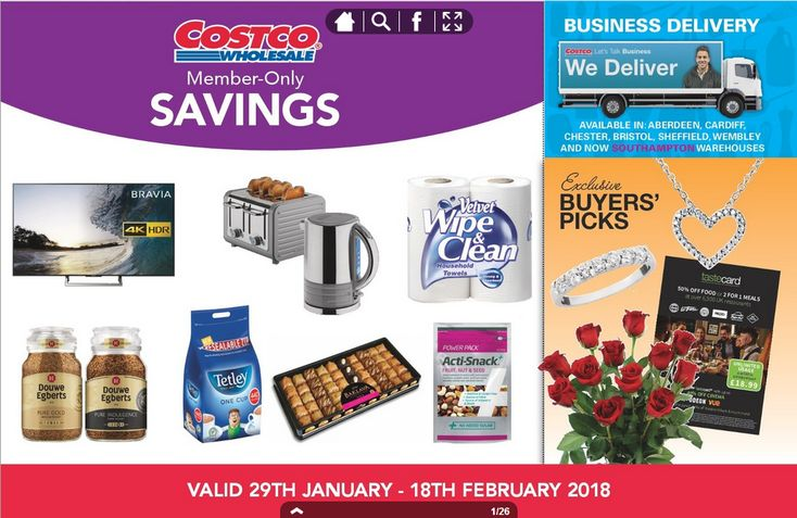 Costco Offers 29th January - 18th February 2018 - http://www.olcatalogue.co.uk/costco/costco-offers.html