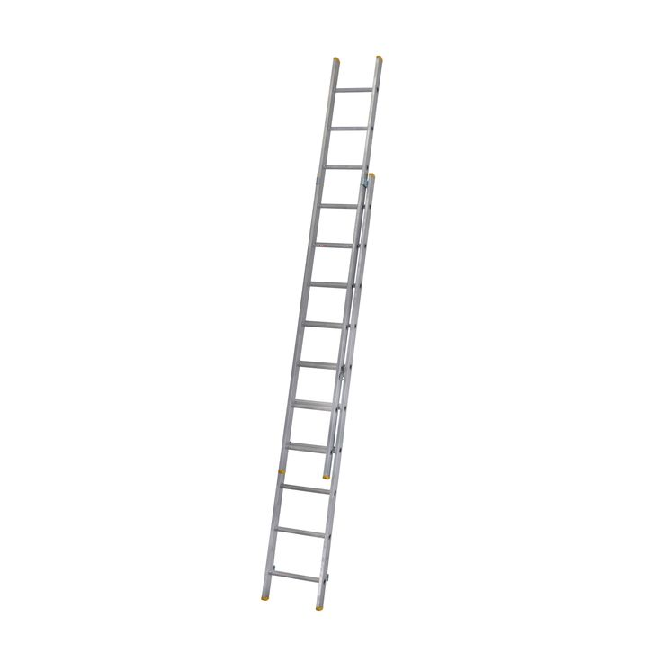 Werner Trade Aluminium & Plastic Double Extension Ladder, (H)4.91M | Departments | DIY at B&Q