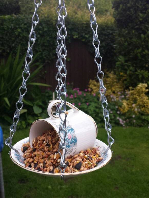 17 Best Images About Teacup Bird Feeders On Pinterest