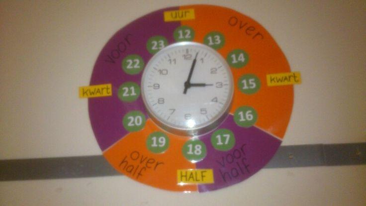 Een handige klok gemaakt voor in de klas!