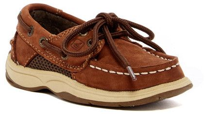Sperry Intrepid Boat Shoe - Wide Width Available (Toddler & Little Kid)