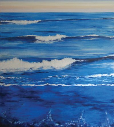 """""""Mare"""" Painting made for my daughter when she was born"""