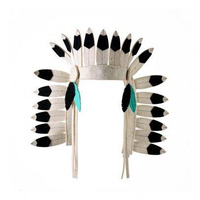 Indianer-Kopfschmuck aus Filz Schwarz Frida's Tierchen