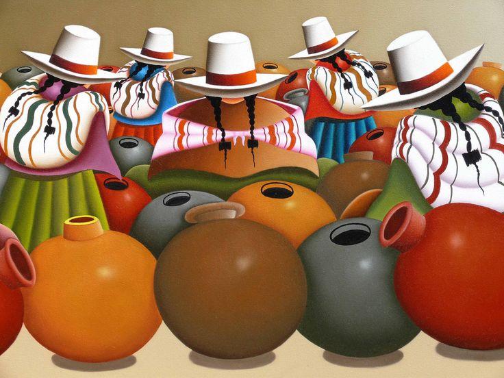 Resultado de imagen para como pintar sombreros al oleo