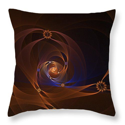 Fractal Throw Pillow featuring the digital art Floral Swirl by Elena Ivanova IvEA   #ElenaIvanovaIvEAFineArtDesign #Design #Pillow #Cushiоn #HomeDecor #Gift