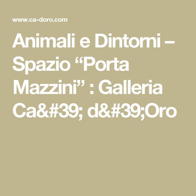 """Animali e Dintorni – Spazio """"Porta Mazzini""""  : Galleria Ca' d'Oro"""