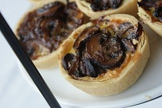 Caramelised Onion and Mushroom Tarts