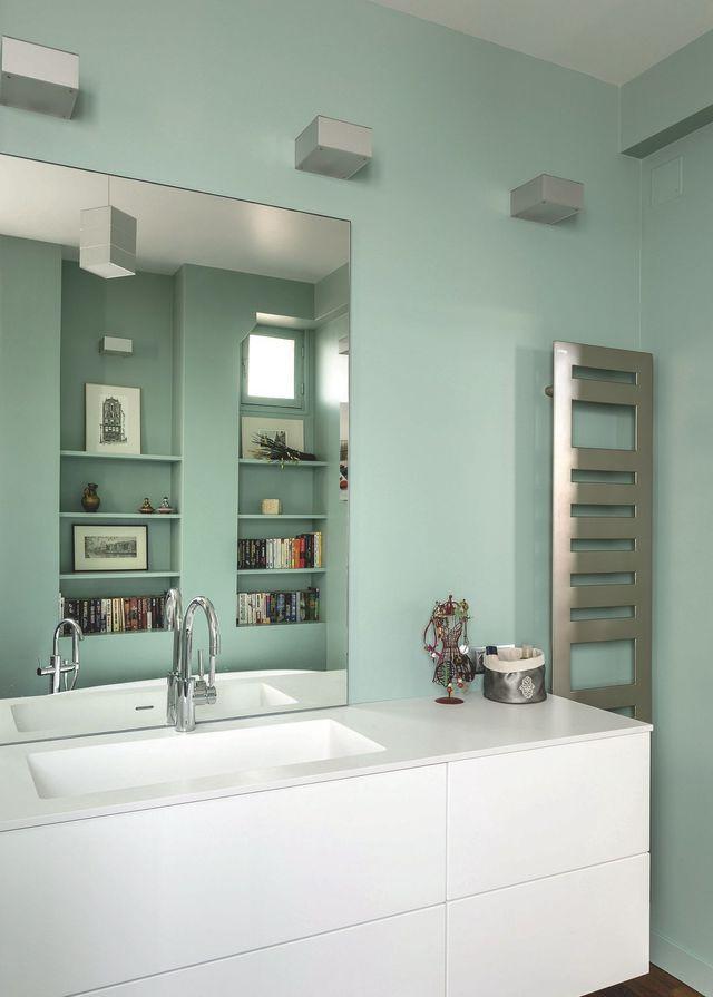 75 best Salles de bains images on Pinterest Bathrooms, Napkins and - puissance seche serviette salle de bain