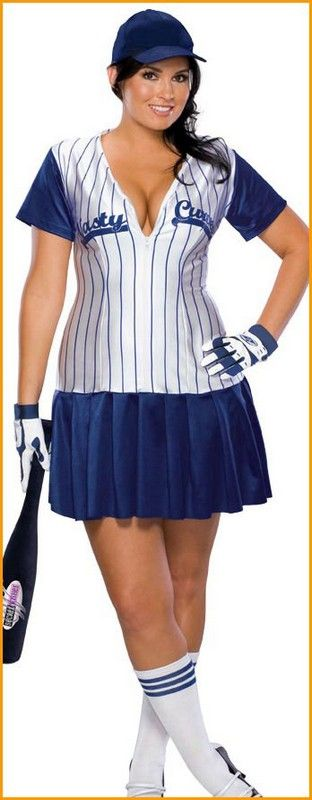 Plus Size Costumes for Women | ... size costumes plus size halloween costumes baseball costume womens