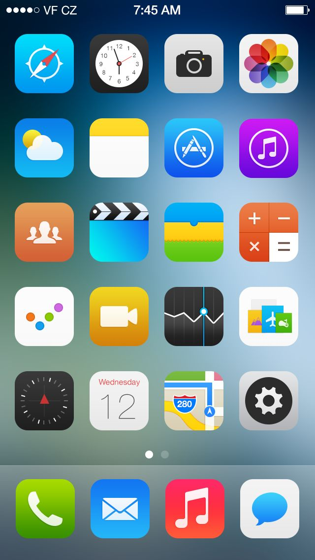 #ios7 #icons whick looks better than original ones.