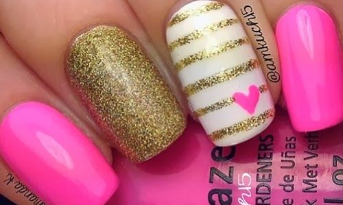 unas disenos dia amor, nail design valentine's
