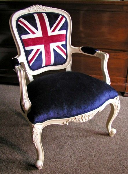 great Union Jack chair.