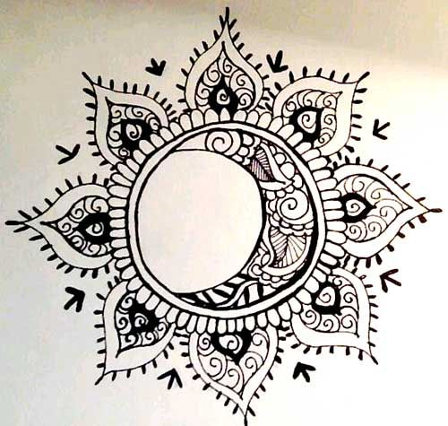 Tattoo Sun and Moon