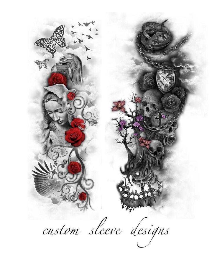147 besten tattoos bilder auf pinterest sch ne t towierungen totenkopf tattoos und tattoo ideen. Black Bedroom Furniture Sets. Home Design Ideas