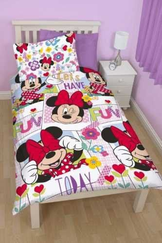 MINNIE MOUSE ~ 'Meadow' Single Bed Reversible Quilt Set