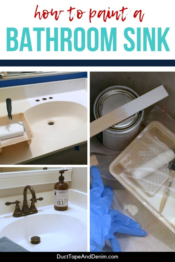 How To Paint A Sink A Diy Bathroom Project Your Budget Will Love Painting Bathroom Guest Bathroom Diy Bathroom [ 1102 x 735 Pixel ]