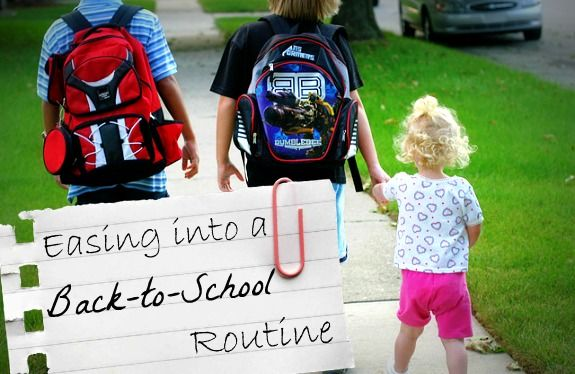 How to Ease the Kids {and Yourself} into a Back-to-School Routine: Parenting Resources, Things Boop, Back To School Routine, School Days, School Stuff, Parenting Ideas, Kid Stuff, Family Time