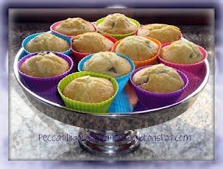 Muffin fragole e banana