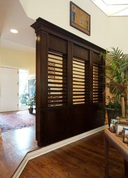 Entry Divider Room Wall Unit Design Ideas Pictures Remodel And Decor Think About It Louvers Home Pinterest